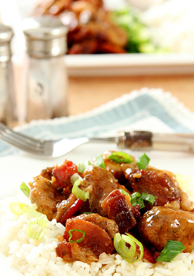 Maple Bourbon Chicken with Bacon