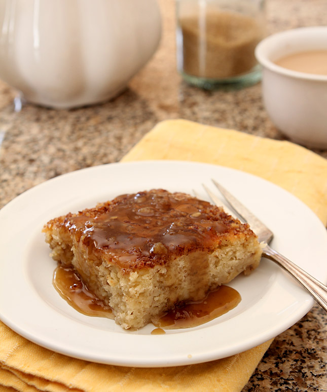 Maple Bourbon Banana Pudding Cake   Creative-Culinary.com