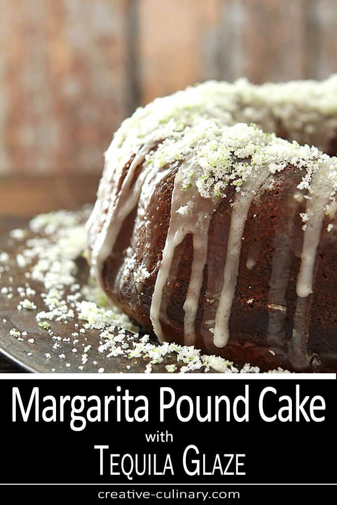 Margarita Pound Cake with Tequila Glaze PIN