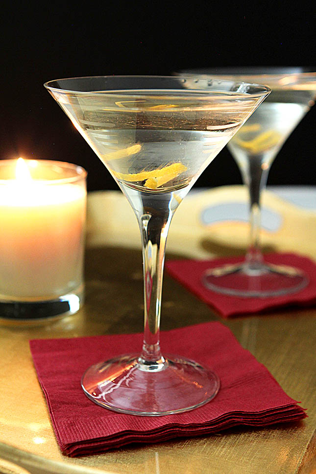 Martini with a Lemon Twist