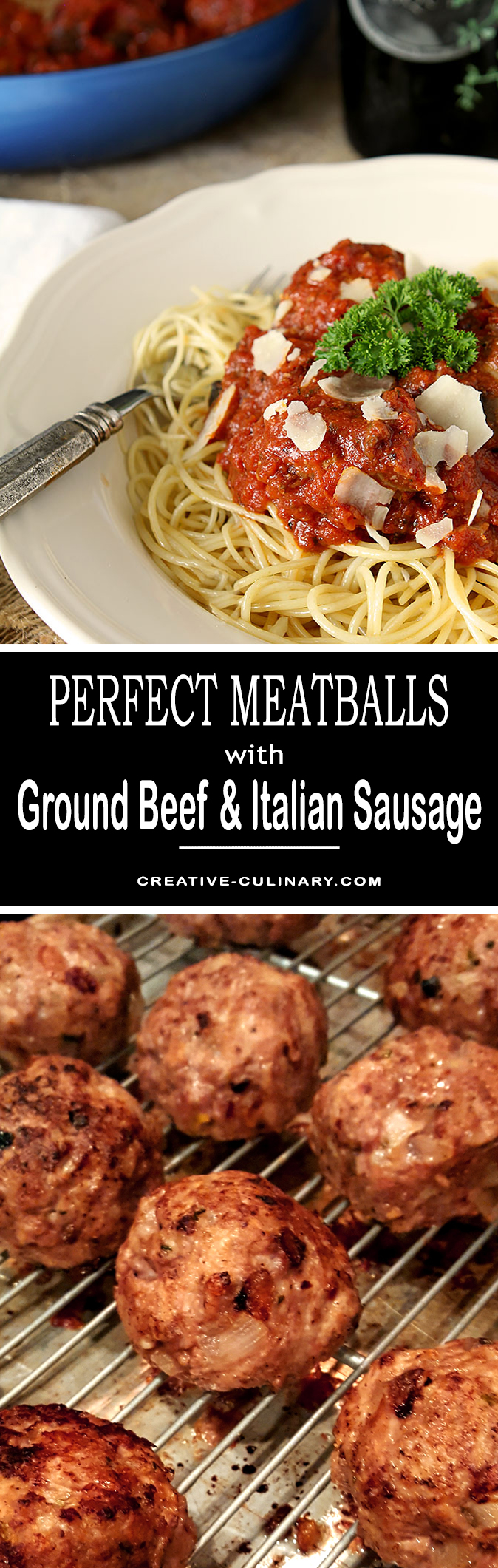 These really are Perfect Meatballs with Ground Beef and Italian Sausage giving them the BEST flavor!