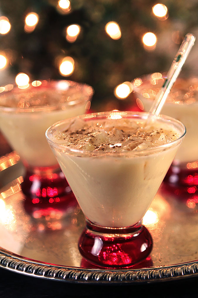 Merry Friar Eggnog Cocktail with Vodka & Frangelico