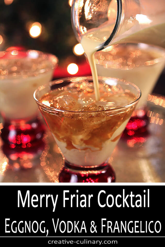 erry Friar Eggnog Cocktail with Vodka & Frangelico PIN