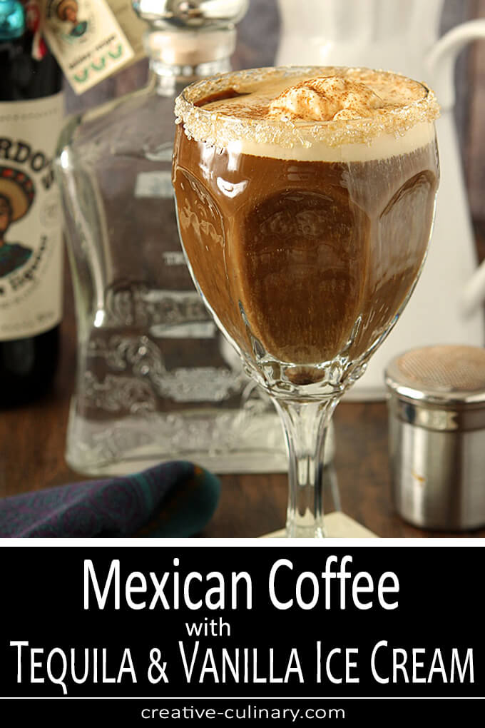 Mexican Coffee with Tequila and Vanilla Ice Cream PIN
