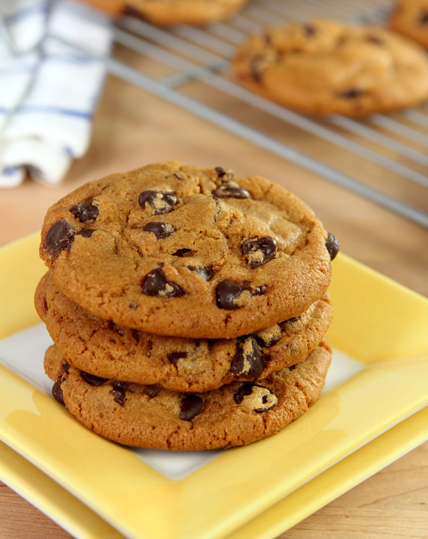 Molasses and Brown Butter Chocolate Chip Cookies