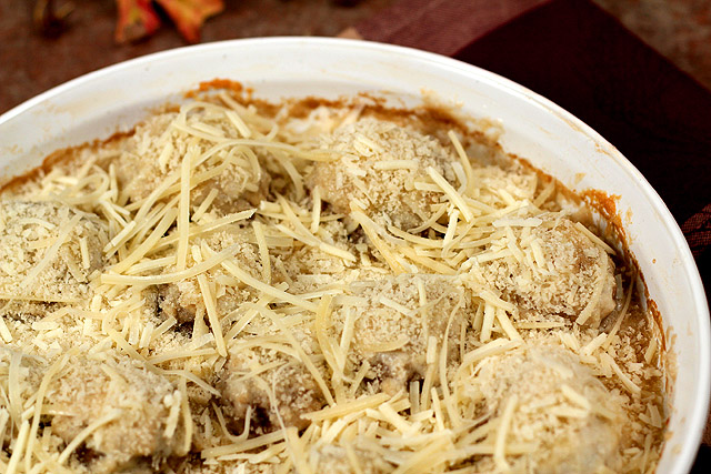 Creamy Mushroom Bake with Parmesan and Panko