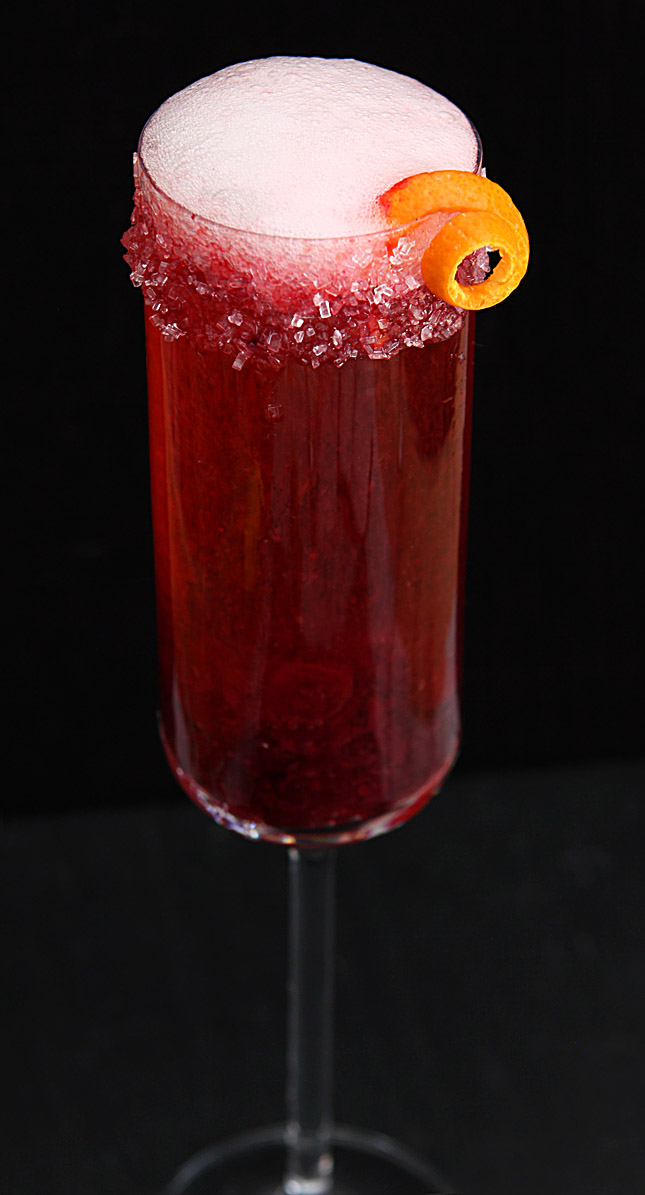 Cranberry and grand marnier champagne cocktail cocktails for Champagne mixed drinks