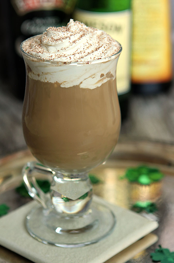 The Nutty Irishman - Coffee, Irish Whiskey, Bailey's and Frangelico Hazelnut Liqueur