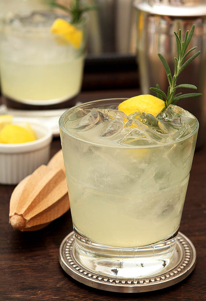 Ophelia Cocktail - Gin, Lemon and Rosemary
