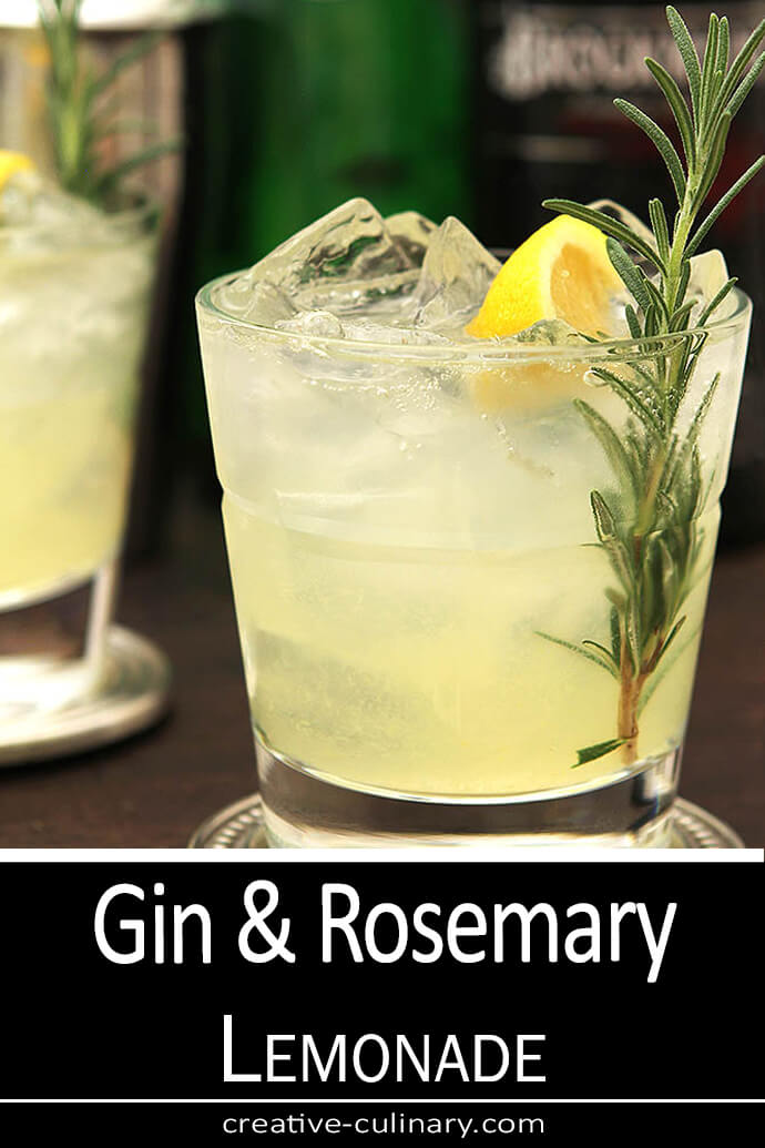 Gin and Rosemary Sparkling Lemonade