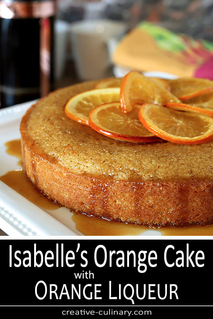Isabelle's Orange Cake from the book Orange Appeal