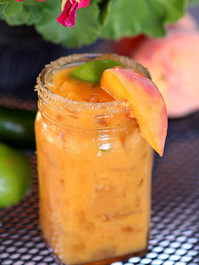 Grilled Peach and Jalapeno Margarita