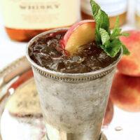 Honey Peach Mint Julep Cocktail