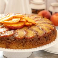 Fresh Peach and Bourbon Upside Down Cake