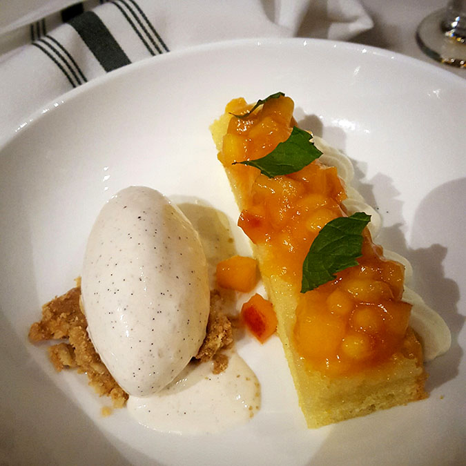 Peaches and Cream Dessert