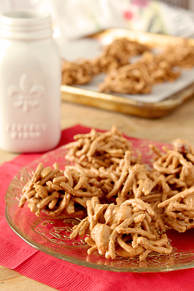 Peanut Butter and Butterscotch Haystacks
