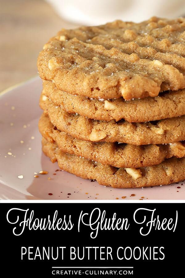 Flourless (Gluten Free) Peanut Butter Cookies PIN