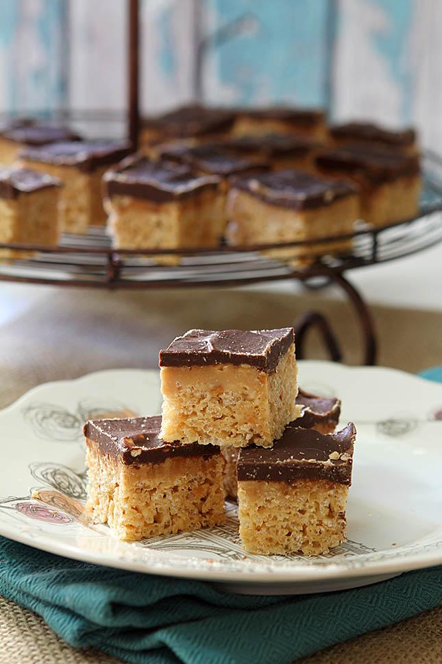Peanut Butter Cup Rice Krispie Treats   Creative Culinary   A Denver ...