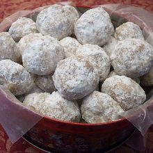 Pecan Butter Balls and also called Mexican Wedding Cookies and Russian Tea Cakes
