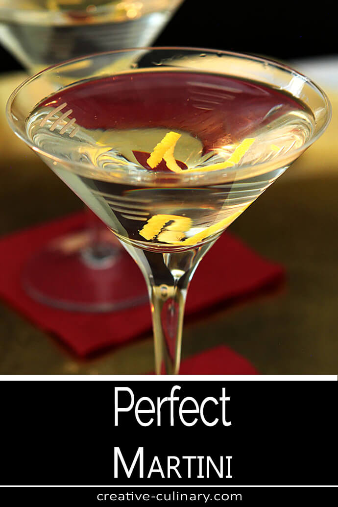 The Perfect Martini Served with a Lemon Twist