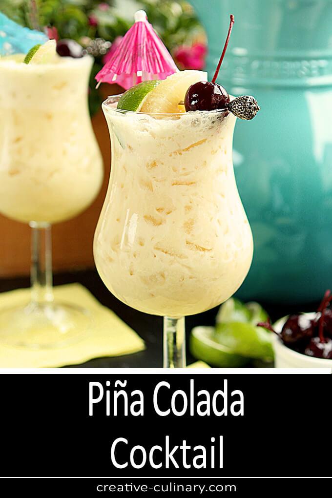 Pina Colada Cocktail PIN