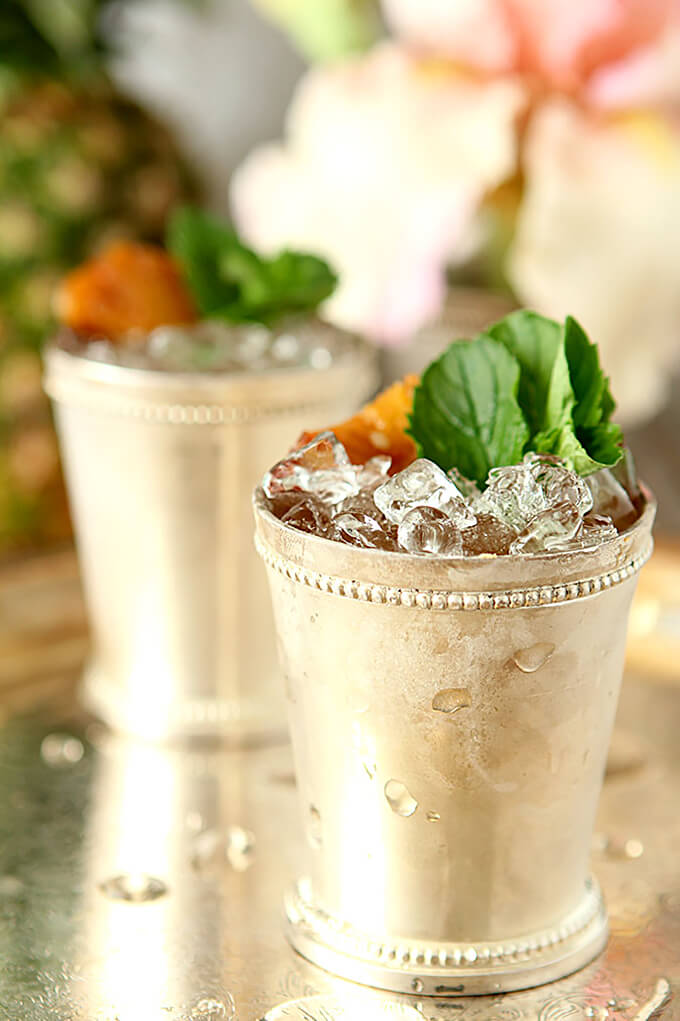 Pineapple Mint Julep in a Julep Cup
