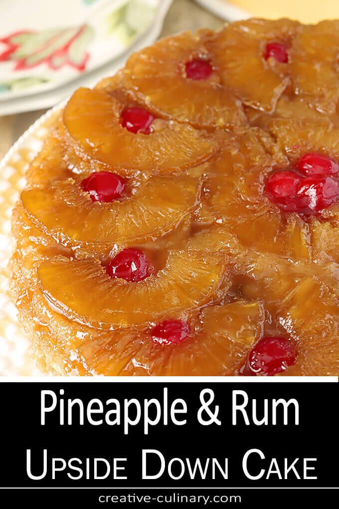 Pineapple and Rum Upside Down Cake PIN