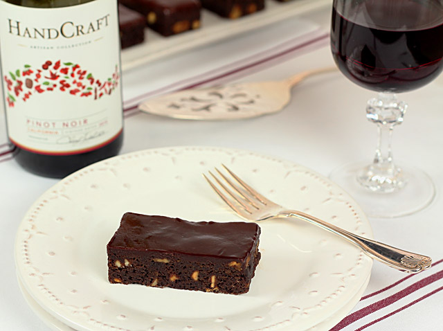 Pinot Noir Chocolate Brownies with Handcraft Wine
