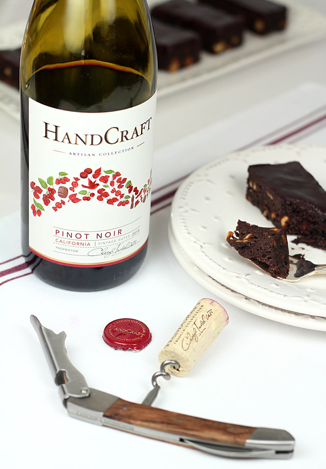 Pinot Noir Chocolate Brownies - Creative Culinary