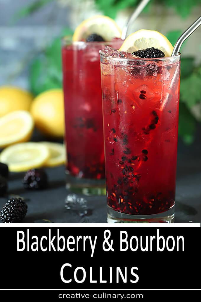 Blackberry Bourbon Collins PIN