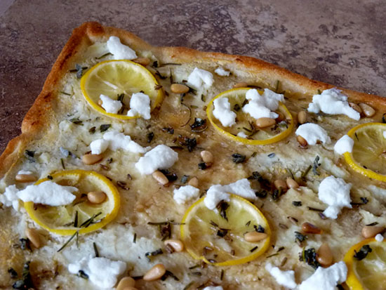 Lemon Ricotta Pizza with Herbs and Honey | Creative Culinary