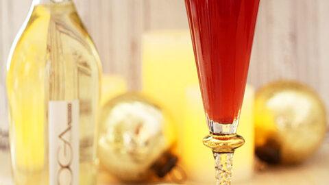 Pomegranate Ginger Sparkler Holiday Cocktail