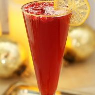 Pomegranate Ginger Sparkler Holiday Cocktail