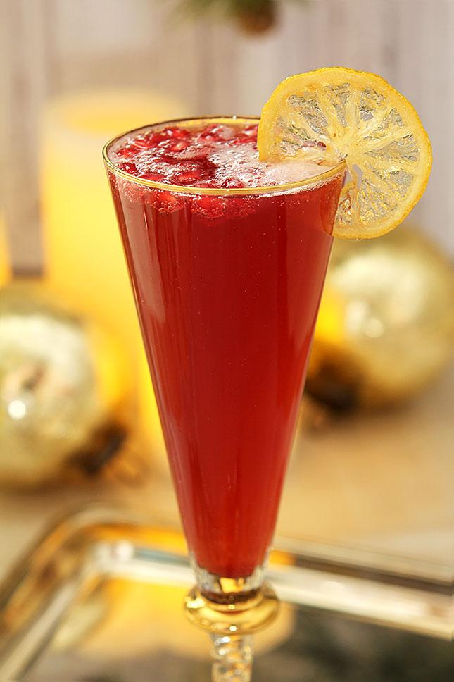 Pomegranate Ginger Sparkler