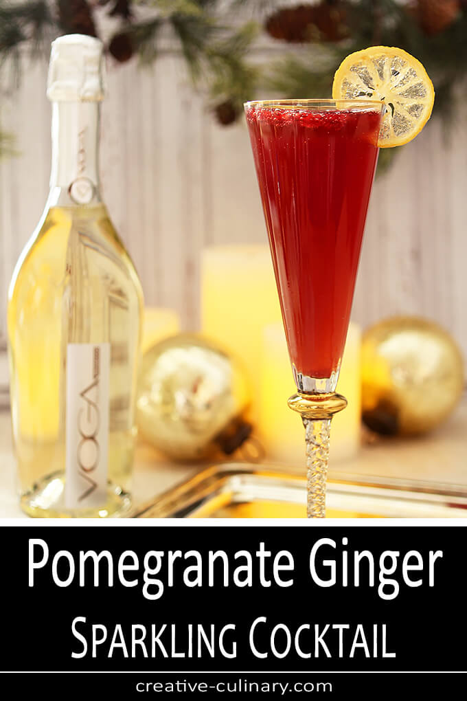 Pomegranate and Ginger Sparkling Cocktail PIN