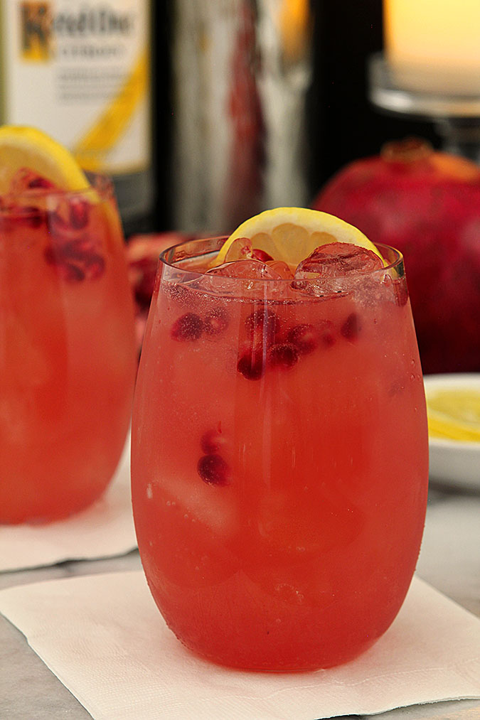 Pomegranate Lemon Fizz