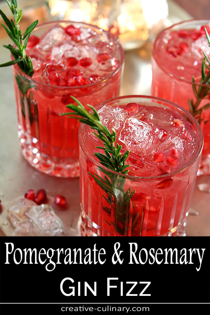 Pomegranate and Rosemary Gin Fizz PIN