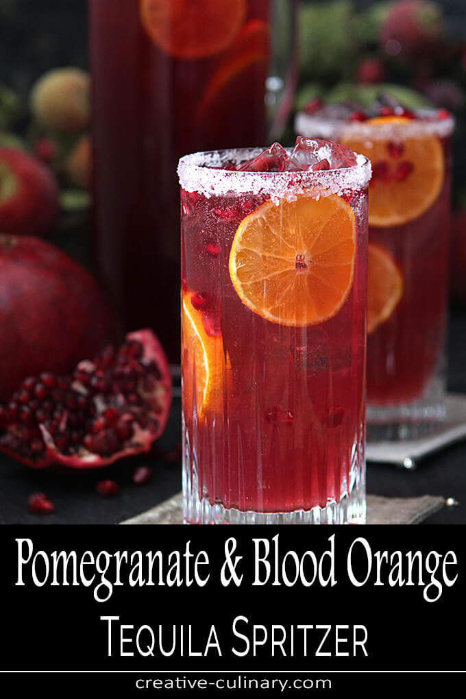 Pomegranate and Blood Orange Tequila Spritzer PIN