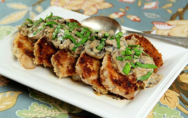 Pork Chops With Mushroom Bourbon Cream Sauce Recipes ...