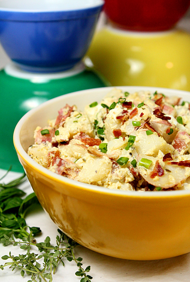 Sour Cream and Bacon Potato Salad from @creativculinary