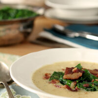 Creamy Potato Soup with Beer and Bacon