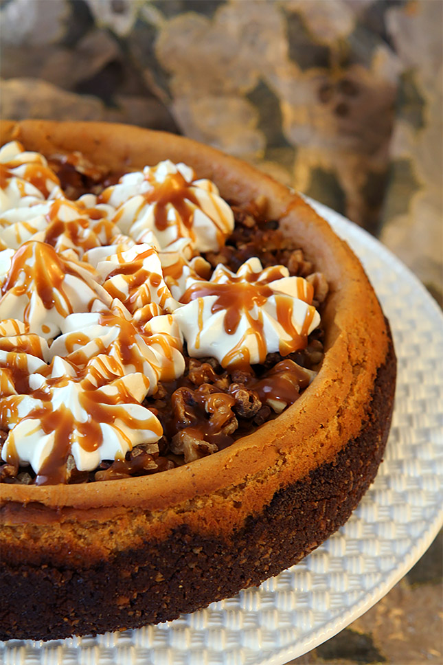 Brown Sugar Pumpkin Cheesecake with Bourbon and Toasted ...