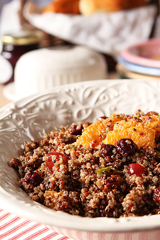 Quinoa Salad with Oranges, Cranberries and Pecans