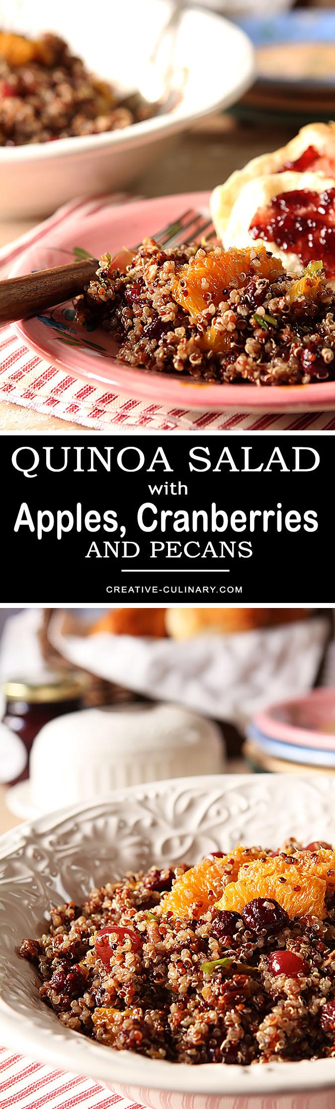 Quinoa Salad with Oranges, Cranberries and Pecans