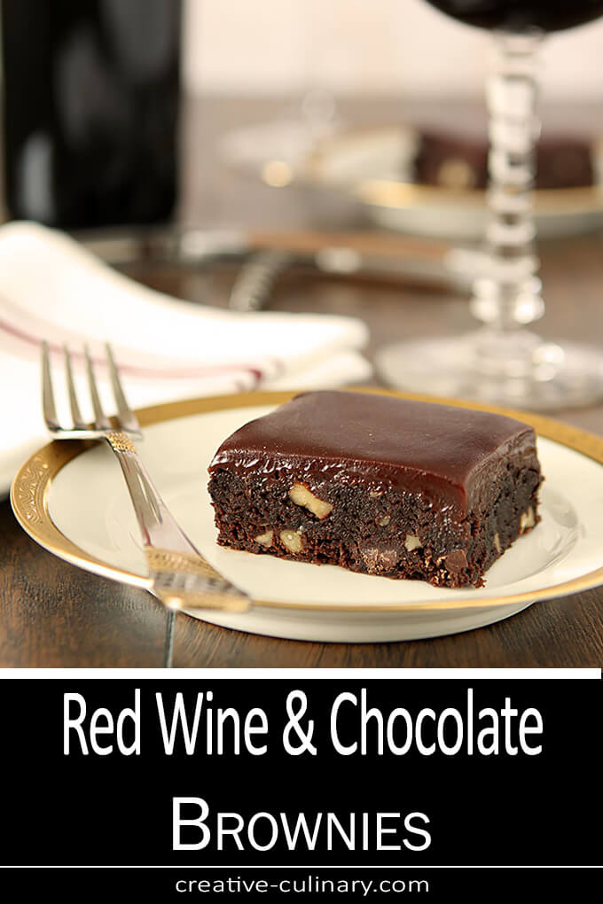 Red Wine and Chocolate Brownies PIN