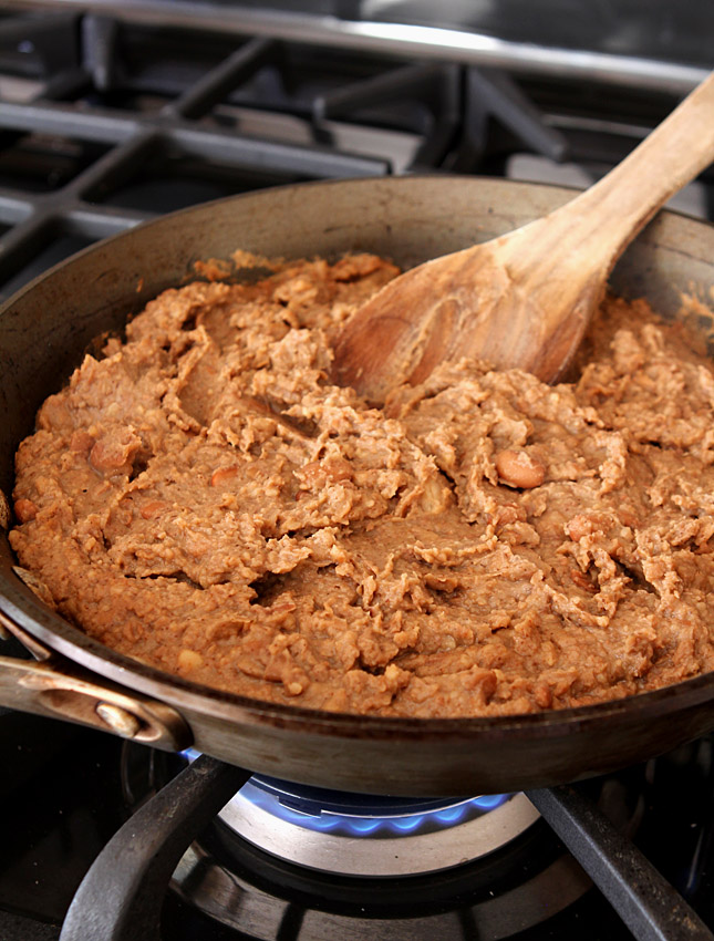 Garlicky Homemade Re-Fried Beans | Creative-Culinary.com