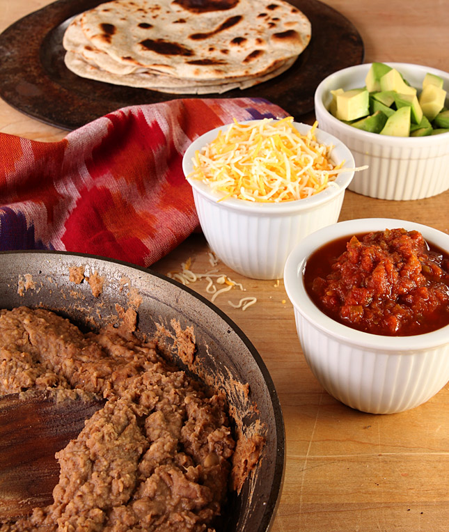 Garlicky Homemade Re-Fried Beans | @CreativCulinary
