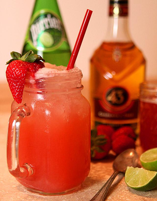 Backyard Cocktail with Rhubarb Shrub