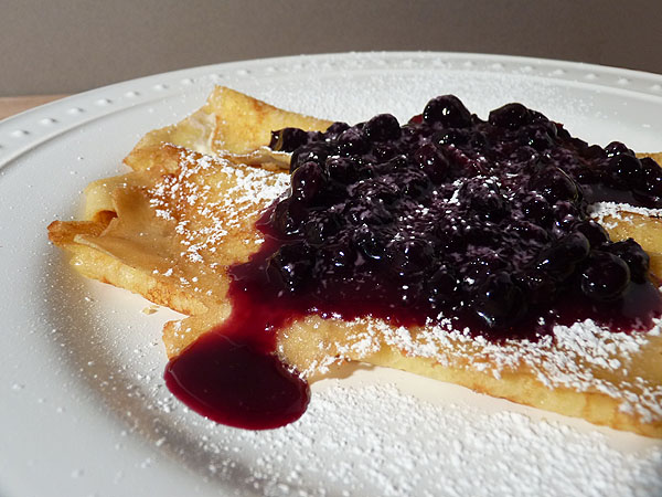 Post image for Crepes with Orange Ricotta Filling and Blueberry Topping