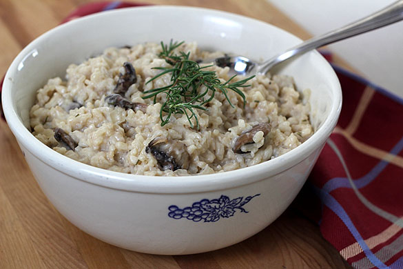 Mushroom, Rosemary and Goat Cheese Risotto